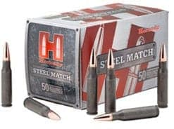 Hornady 308 WIN 155GR BTHP Steel Match