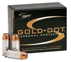 Speer Gold Dot 9mm Luger 124gr Jacketed Hollow Point (20)