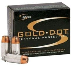 Speer Gold Dot Ammo .40cal S&W 180gr Jacketed Hollow Point (20)