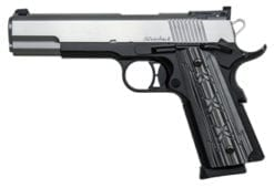 DW Silverback 10mm Stainless/black 2 tone, Bomar style target night sights, 8rd mags