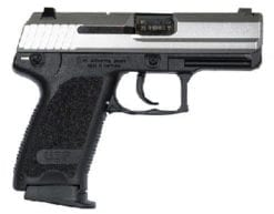 HK USPC Compact 9mm, Stainless, (V1), DA/SA, Safety decocking lever on left, Two 13rd mags