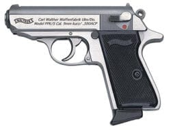 Walther PPK/S .380 ACP, Stainless (2) 7rd mags