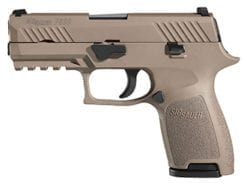 SIG SAUER P320 Compact Striker, 9mm, FDE, Siglite Night Sights -320C-9-FDE