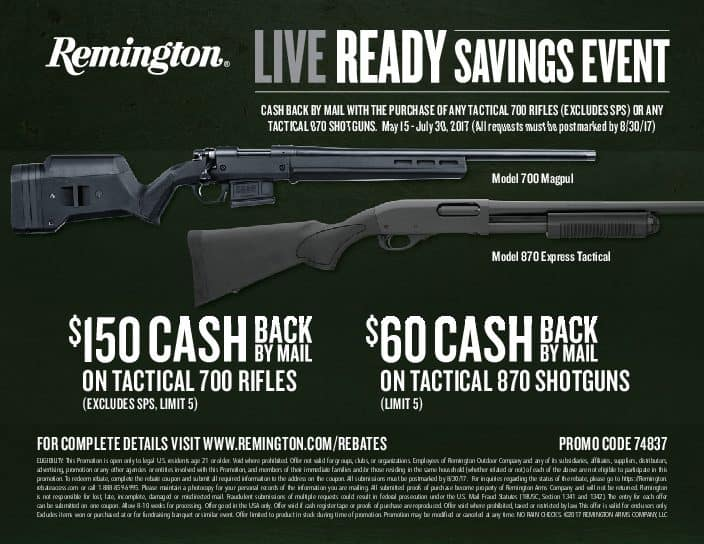 Live Ready_Long guns_Rebate
