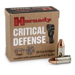 hornady cricical defense 9mm