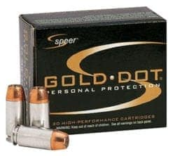 Speer Gold Dot 32 ACP Auto Ammo 60 Grain Jacketed Hollow Point (20)