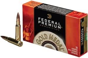 Federal Ammunition Premium Gold 308 WIN Sierra Match King BTHP 168 or 175 gr