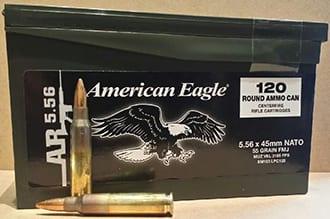 Federal Ammunition XM193 5.56 55GR -120rdbox