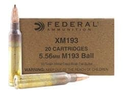 Federal Ammunition XM193 5.56MM 55GR - 20rd/box