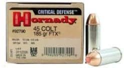 Hornady Critical Defense 45 ACP 185 gr FTX®