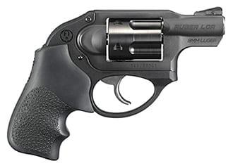 Ruger KLCR-9 9mm, Matte Black, Hogue Tamer Monogrip