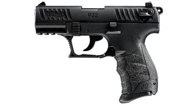 Walther P22QD Pistol,  22 LR, Black, (10)-Rd Magazine, 3 42