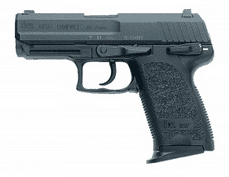 HK USP45C, Compact .45 ACP, (V1), DA/SA, Safety decocking lever on left, Two 8rd mags