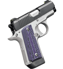 Kimber Micro Carry Advocate with purple/black grips