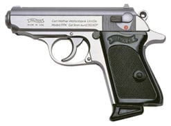 Walther PPK .380 ACP, Stainless (2) 6rd mags