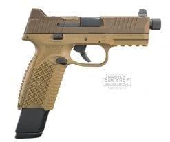 fn 509 tactical threaded barrel fde pistol