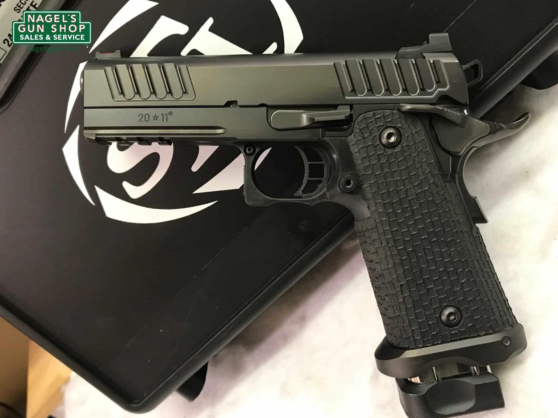Sti 2011 Staccato P Pistol 9mm Black Dlc Fiber Optic