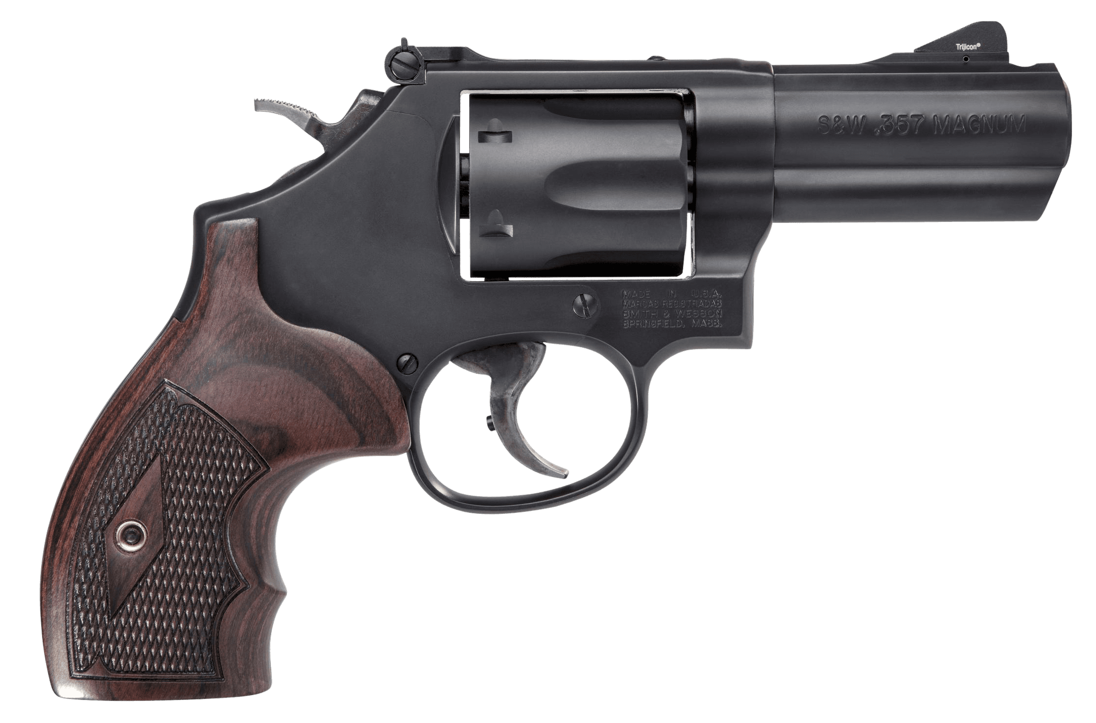 Smith & Wesson Model 19 Carry Comp 357 Magnum Revolver, Ported Barrel, 3 0