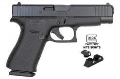 glock 48 black night sights 9mm pistol at nagels