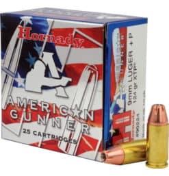 hornady American gunner 9mm 124 + P