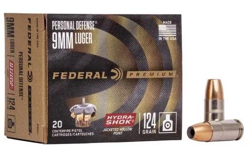 federal 9mm hydra shock 124gr