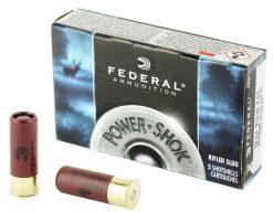 federal 12ga power shock rifled slug hp