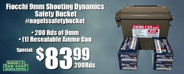fiocchi 9mm safety bucket
